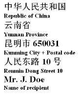 Chinese Street Addresses